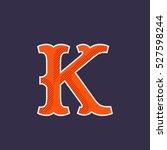 k letter logo. simple and... | Shutterstock .eps vector #527598244