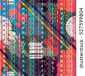 abstract art seamless pattern ... | Shutterstock .eps vector #527599804