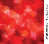 red abstract polygon background   Shutterstock .eps vector #527603410