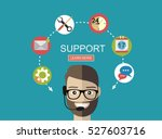 business customer care service... | Shutterstock .eps vector #527603716