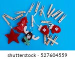 handmade christmas toys with... | Shutterstock . vector #527604559