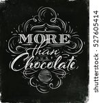 poster chocolate in vintage... | Shutterstock . vector #527605414