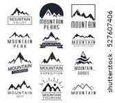 mountain vector icons set. logo ... | Shutterstock .eps vector #527607406