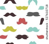 mustaches seamless pattern... | Shutterstock . vector #527610718