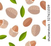 almond seamless pattern vector... | Shutterstock .eps vector #527611039