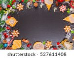 christmas cookies with cone and ... | Shutterstock . vector #527611408