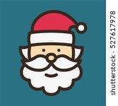 santa claus minimal color flat... | Shutterstock .eps vector #527617978