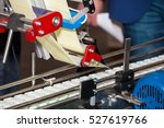 labeling product machine in... | Shutterstock . vector #527619766