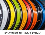abs wire plastic for 3d printer ... | Shutterstock . vector #527619820