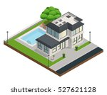 isometric composition with... | Shutterstock .eps vector #527621128