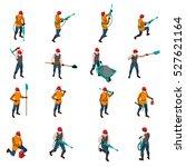 miner people wearing uniform... | Shutterstock .eps vector #527621164
