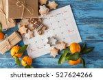 calendar december christmas... | Shutterstock . vector #527624266