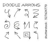 doodle arrow set | Shutterstock .eps vector #527624770