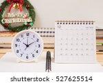 clock and december 2016...   Shutterstock . vector #527625514