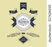 hand lettered catchword vintage ...   Shutterstock . vector #527636020