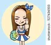 cartoon character cute woman in ... | Shutterstock .eps vector #527636503