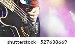 closeup of man playing bass... | Shutterstock . vector #527638669