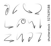 vector set of hand drawn arrows | Shutterstock .eps vector #527639188
