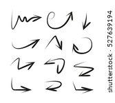 vector set of hand drawn arrows | Shutterstock .eps vector #527639194