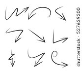 vector set of hand drawn arrows | Shutterstock .eps vector #527639200