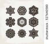 set of ornate vector mandala... | Shutterstock .eps vector #527640580