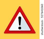 exclamation danger sign | Shutterstock .eps vector #527641060