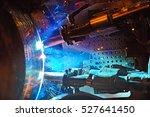 butt welding underwater... | Shutterstock . vector #527641450