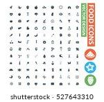 food icon set clean vector | Shutterstock .eps vector #527643310
