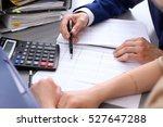 bookkeeper or financial... | Shutterstock . vector #527647288