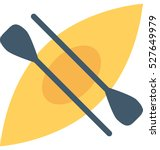 canoe vector icon | Shutterstock .eps vector #527649979