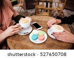 side view of table in cafe.... | Shutterstock . vector #527650708