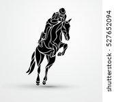 horse race. equestrian sport.... | Shutterstock .eps vector #527652094