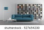 blue and gray modern living...   Shutterstock . vector #527654230