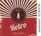 retro space rocket | Shutterstock . vector #527654734