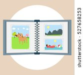 photo album vector flat design... | Shutterstock .eps vector #527658253