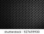black  perforated metal texture ... | Shutterstock . vector #527659930