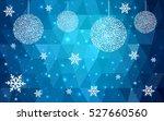 dark blue christmas postcard... | Shutterstock .eps vector #527660560