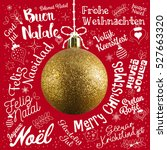 merry christmas greetings card... | Shutterstock . vector #527663320