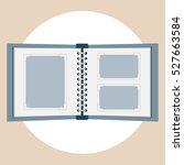 blank photo album vector flat... | Shutterstock .eps vector #527663584