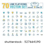 vector set. flat graphic icon ...   Shutterstock .eps vector #527664190