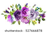 Purple Yellow Watercolor Flora...