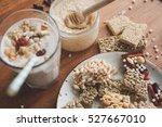 serving table for breakfast.   Shutterstock . vector #527667010