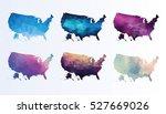 polygonal map of usa | Shutterstock .eps vector #527669026