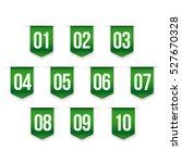 number set vector ribbon | Shutterstock .eps vector #527670328