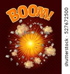 big cool explosion composition... | Shutterstock .eps vector #527672500