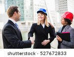 business people and architects... | Shutterstock . vector #527672833