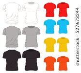 isolated and colorful t shirt... | Shutterstock .eps vector #527673244
