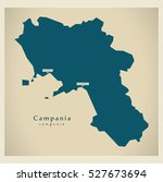 modern map   campania it italy | Shutterstock .eps vector #527673694