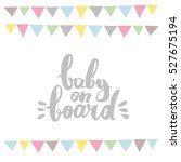 baby shower card design | Shutterstock .eps vector #527675194