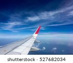 Airplane Wing In The Blue Sky ...